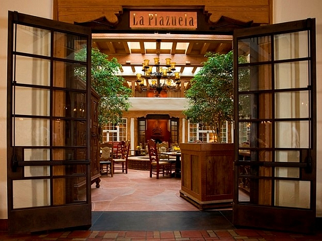 Custom Steel Doors with Patina at the La Fonda Hotel, Santa Fe, NM