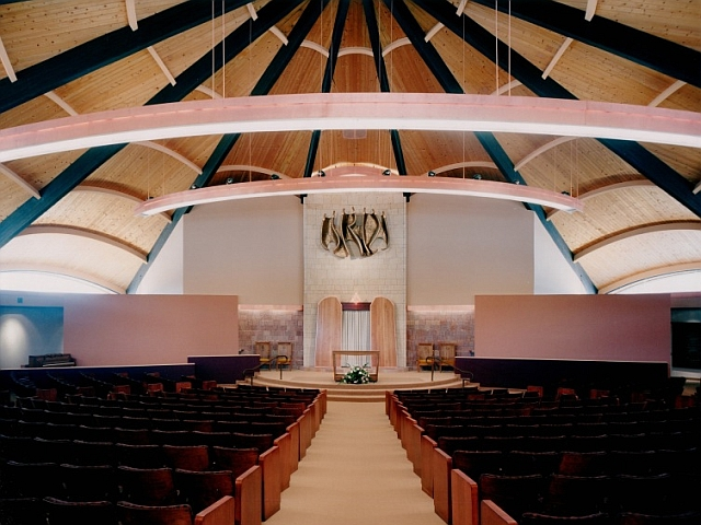 Copper Lighting at the B'nai Israel Synagogue, Albuquerque, NM