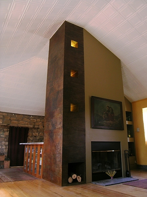 Patinated Steel Lighting Feature