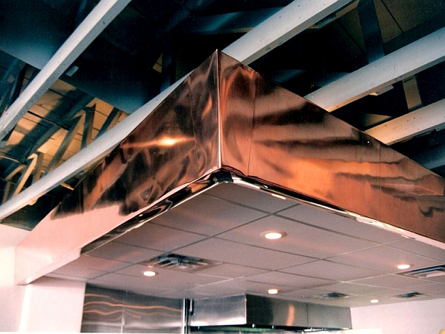 Copper Clad Counter-top Soffit Detail - Gyros Restaurant, Albuquerque, NM