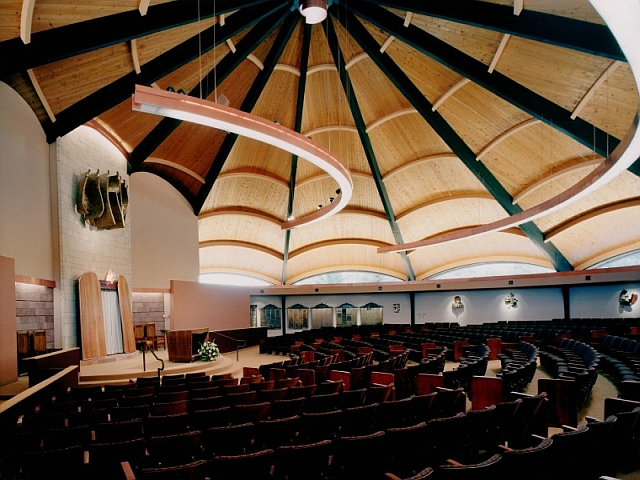 Copper Lighting at the B'nai Israel Synagogue, Albuquerque, NM