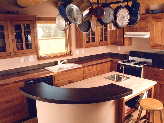 Copper & Patinated Steel Counter tops