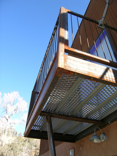 Exterior Steel Deck with galvanized tread floor