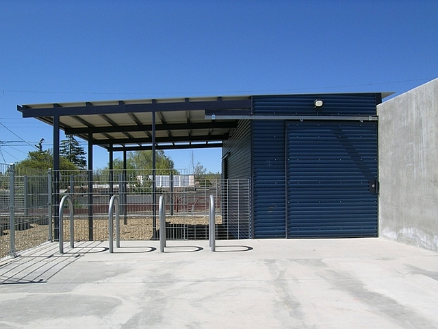 Corrugated Metal Structure for the 'Outdoor Classroom' at Salazar Green Elementary School, Santa Fe, NM