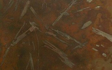 Metal Patina - Reddish/Brown with Pattern on Hot Rolled Steel